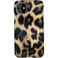 Luipaard Design Backcover iPhone 11 - Bruin