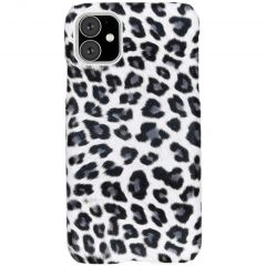 Luipaard Design Backcover iPhone 11 - Wit
