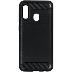 Brushed Backcover Samsung Galaxy A20e - Zwart