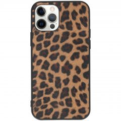 Hardcase Backcover iPhone 12 (Pro) - Luipaard