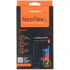 Spigen Neo Flex Screenprotector Duo Pack Samsung Galaxy S10 Plus