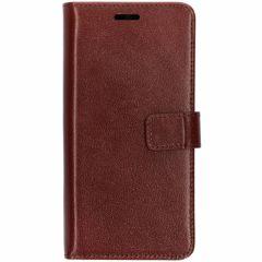 Valenta Leather Booktype Samsung Galaxy S10 - Bruin