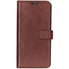 Valenta Leather Booktype Samsung Galaxy S10 Plus - Bruin