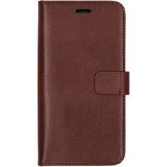 Valenta Leather Booktype iPhone 11 - Bruin