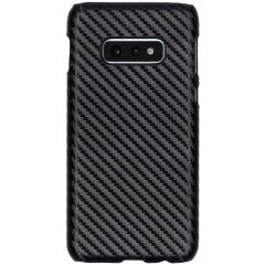 Carbon Hardcase Backcover Samsung Galaxy S10e - Zwart