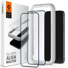 Spigen AlignMaster Full Screenprotector 2 Pack iPhone 12 Mini