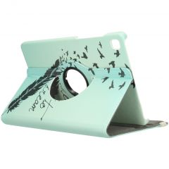360° Draaibare Design Bookcase Galaxy Tab S6 Lite