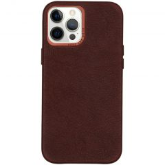 Decoded Leather Backcover iPhone 12 Pro Max - Chocolate Brown