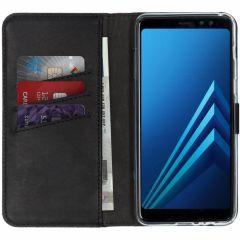 Selencia Echt Lederen Booktype Samsung Galaxy A8 (2018)
