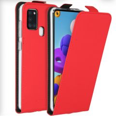 Accezz Flipcase Samsung Galaxy A21s - Rood