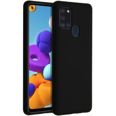 Accezz Liquid Silicone Backcover Samsung Galaxy A21s - Zwart