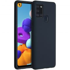 Accezz Liquid Silicone Backcover Samsung Galaxy A21s - Donkerblauw