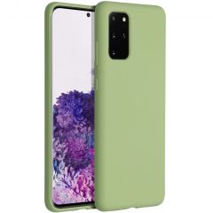 Accezz Liquid Silicone Backcover Samsung Galaxy S20 Plus - Groen