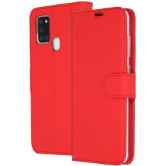 Accezz Wallet Softcase Booktype Samsung Galaxy A21s - Rood