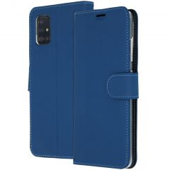 Accezz Wallet Softcase Booktype Samsung Galaxy A51 - Donkerblauw