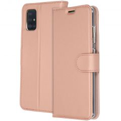 Accezz Wallet Softcase Booktype Samsung Galaxy A51 - Rosé Goud