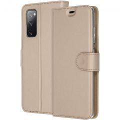 Accezz Wallet Softcase Booktype Samsung Galaxy S20 FE - Goud