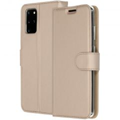 Accezz Wallet Softcase Booktype Samsung Galaxy S20 Plus - Goud