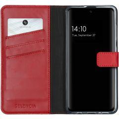 Selencia Echt Lederen Booktype Samsung Galaxy A51 - Rood