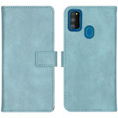 iMoshion Luxe Booktype Samsung Galaxy M30s / M21 - Lichtblauw
