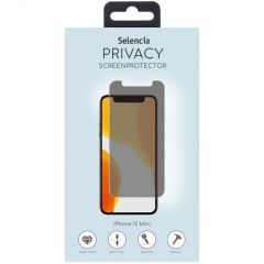 Selencia Gehard Glas Privacy Screenprotector iPhone 12 Mini