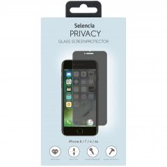 Selencia Gehard Glas Privacy Screenprotector iPhone 8 / 7 / 6s / 6