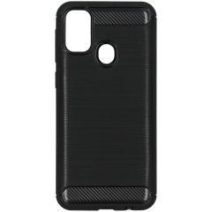 Brushed Backcover Samsung Galaxy M30s / M21 - Zwart