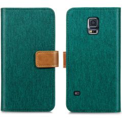 iMoshion Luxe Canvas Booktype Samsung Galaxy S5 (Plus) / Neo - Groen