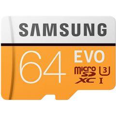 Samsung 64GB EVO microSDXC geheugenkaart klasse 10 + adapter