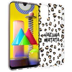 iMoshion Design hoesje Samsung Galaxy M31 - Luipaard - Bruin / Zwart