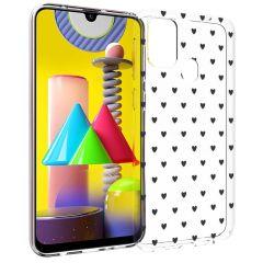 iMoshion Design hoesje Samsung Galaxy M31 - Hartjes - Zwart