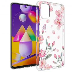 iMoshion Design hoesje Samsung Galaxy M31s - Bloem - Roze