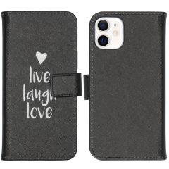 iMoshion Design Softcase Book Case iPhone 12 Mini - Live Laugh Love