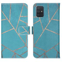 iMoshion Design Softcase Book Case Samsung Galaxy A71 - Blue Graphic
