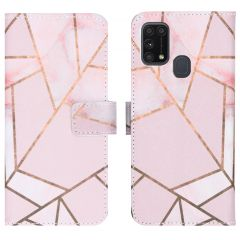 iMoshion Design Softcase Book Case Samsung Galaxy M31 - Pink Graphic