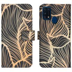 iMoshion Design Softcase Book Case Samsung Galaxy M31 - Golden Leaves