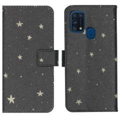 iMoshion Design Softcase Book Case Samsung Galaxy M31 - Stars Gold