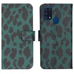 iMoshion Design Softcase Book Case Samsung Galaxy M31 - Green Leopard