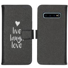 iMoshion Design Softcase Book Case Galaxy S10 - Live Laugh Love