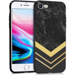 iMoshion Design hoesje iPhone SE (2020) / 8 / 7 - Marmer - Goud