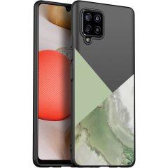 iMoshion Design hoesje Samsung Galaxy A42 - Marmer - Groen / Zwart