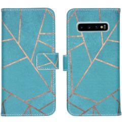 iMoshion Design Softcase Book Case Samsung Galaxy S10 - Blue Graphic