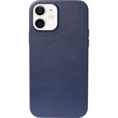 Decoded Leather Backcover MagSafe iPhone 12 Mini - Blauw