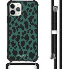 iMoshion Design hoesje met koord iPhone 11 Pro Max - Luipaard - Groen
