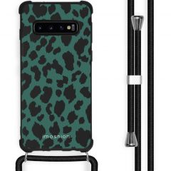 iMoshion Design hoesje met koord Samsung Galaxy S10 - Luipaard
