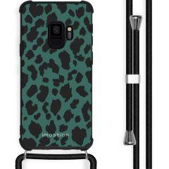 iMoshion Design hoesje met koord Samsung Galaxy S9 - Luipaard - Groen