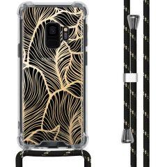 iMoshion Design hoesje met koord Samsung Galaxy S9 - Bladeren - Goud
