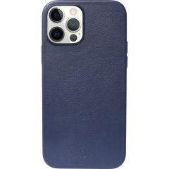 Decoded Leather Backcover MagSafe iPhone 12 (Pro) - Blauw