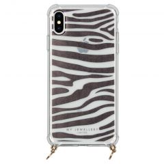 My Jewellery Design Softcase Koordhoesje iPhone Xs / X - Zebra