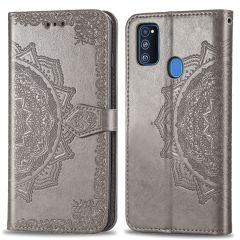 iMoshion Mandala Booktype Samsung Galaxy M30s / M21 - Grijs